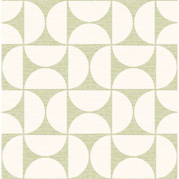 Picture of Deedee Green Geometric Faux Grasscloth Wallpaper