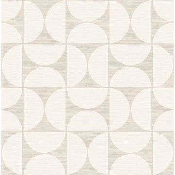 Picture of Deedee Beige Geometric Faux Grasscloth Wallpaper