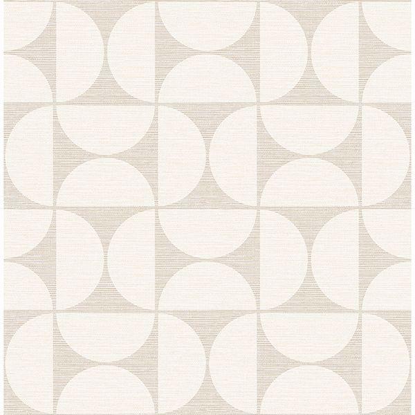 Picture of Deedee Beige Geometric Faux Grasscloth Wallpaper