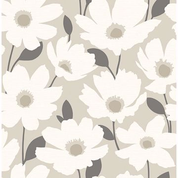 Picture of Astera Beige Floral Wallpaper