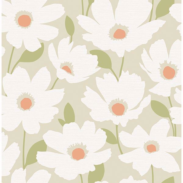 Picture of Astera Neutral Floral Wallpaper