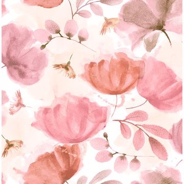 Picture of Zahra Pink Floral Wallpaper