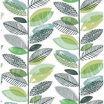 Picture of Nyssa Green Leaves Wallpaper