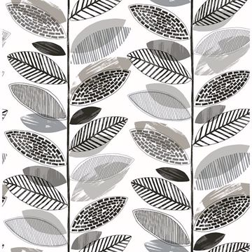 Picture of Nyssa Grey Leaves Wallpaper