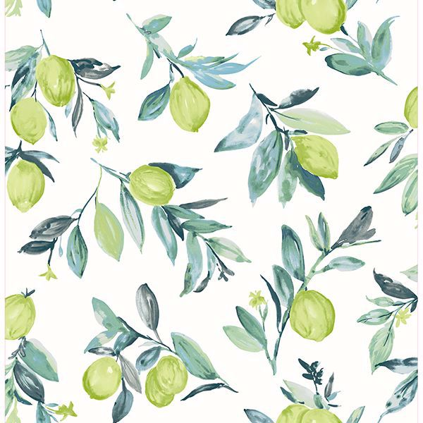 Picture of Limon Green Fruit Wallpaper