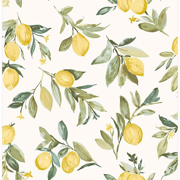 Picture of Limon Yellow Fruit Wallpaper