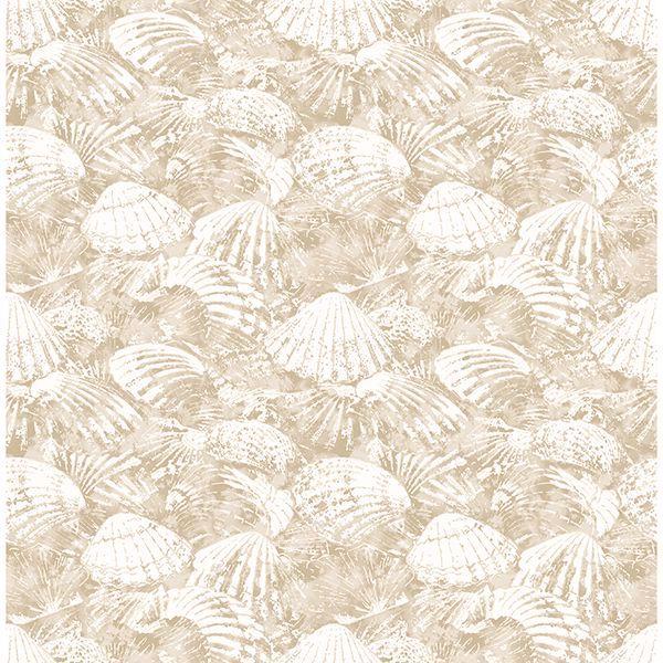 Picture of Surfside Beige Shells Wallpaper