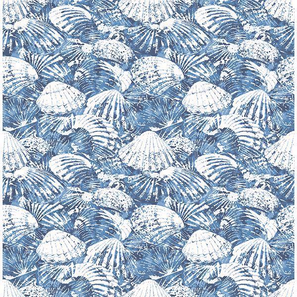 Picture of Surfside Blue Shells Wallpaper