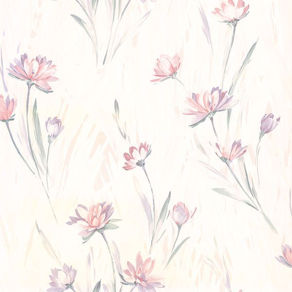 Picture of Gloria Eggshell Floral Wallpaper