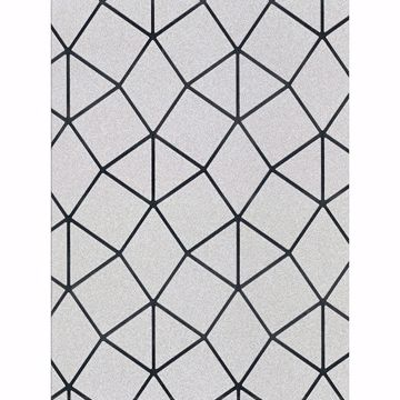 Picture of Albion Silver Geometric Wallpaper