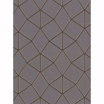 Picture of Albion Taupe Geometric Wallpaper