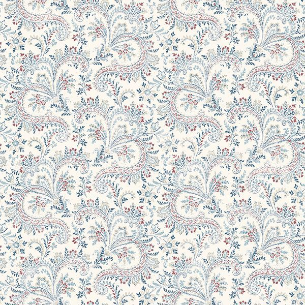 Picture of Sycamore Denim Paisley Floral Wallpaper