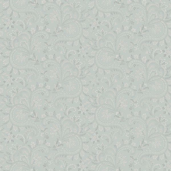 Picture of Sycamore Sage Paisley Floral Wallpaper