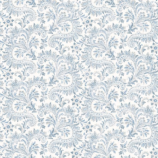 Picture of Sycamore Blue Paisley Floral Wallpaper