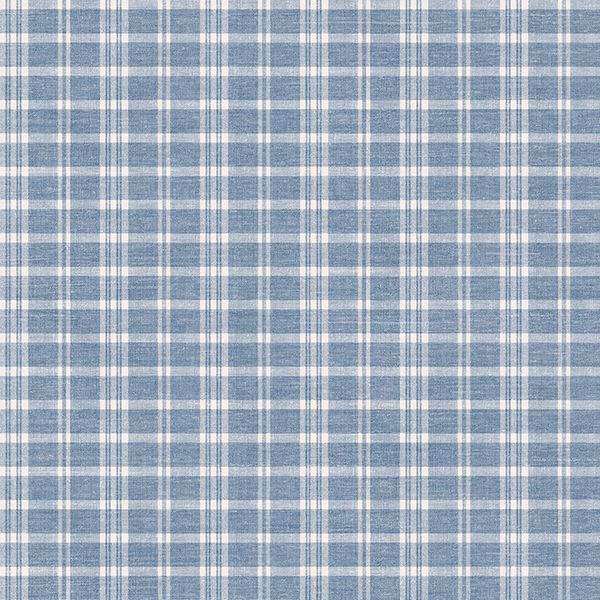 Picture of Tristan Navy Prairie Gingham Wallpaper