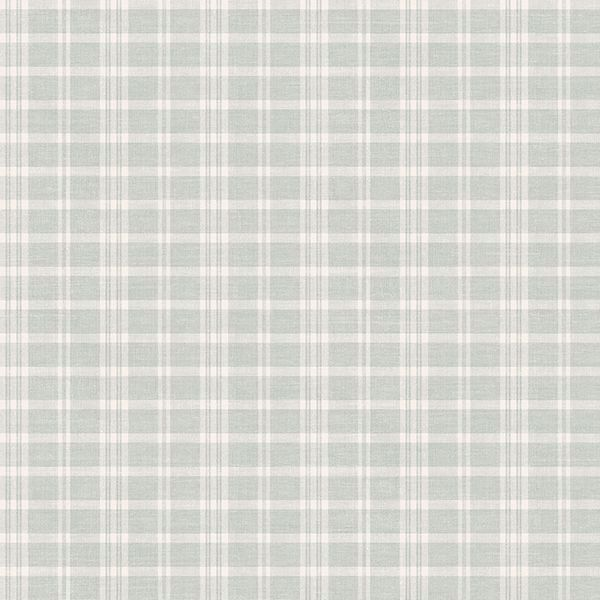 Picture of Tristan Teal Prairie Gingham Wallpaper