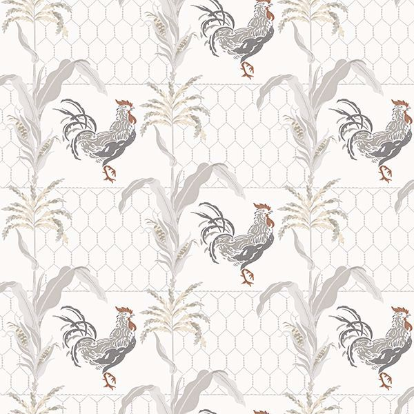 Picture of Hank Grey Rooster Wallpaper