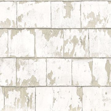 Picture of Clint White Weathered Wood Wallpaper