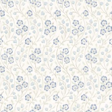 Picture of Patsy Blue Floral Wallpaper