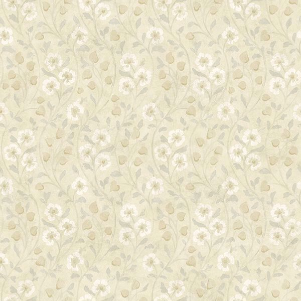 Picture of Patsy Beige Floral Wallpaper