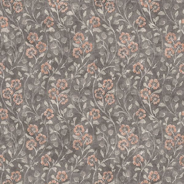 Picture of Patsy Charcoal Floral Wallpaper