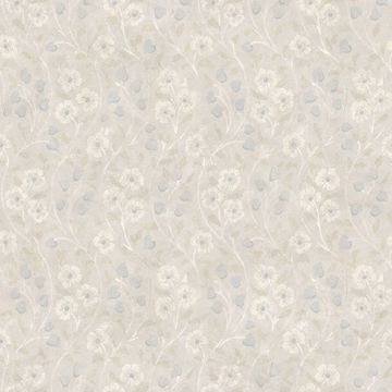 Picture of Patsy Grey Floral Wallpaper
