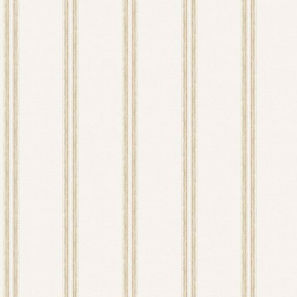 Picture of Johnny Cream Stripes Wallpaper