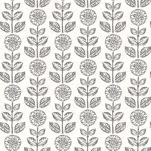 Picture of Dolly Black Floral Wallpaper