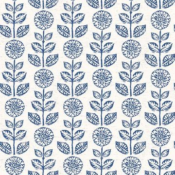 Picture of Dolly Navy Floral Wallpaper