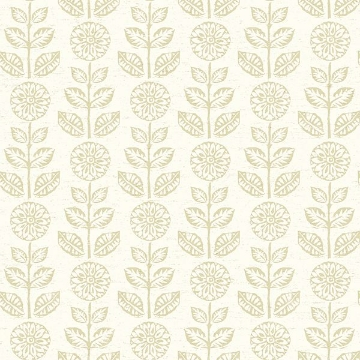 Picture of Dolly Beige Floral Wallpaper