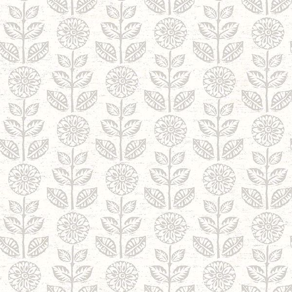 Picture of Dolly Light Grey Floral Wallpaper