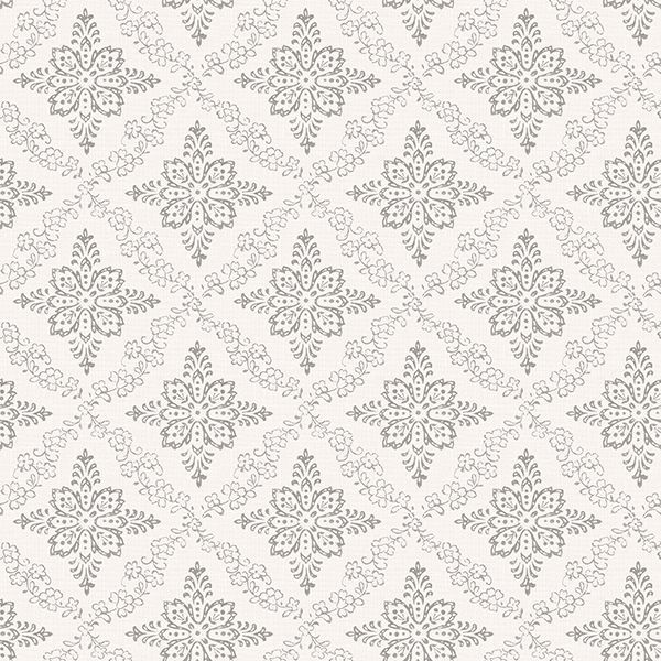 Picture of Wynonna Light Grey Geometric Floral Wallpaper