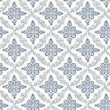 Picture of Wynonna Navy Geometric Floral Wallpaper
