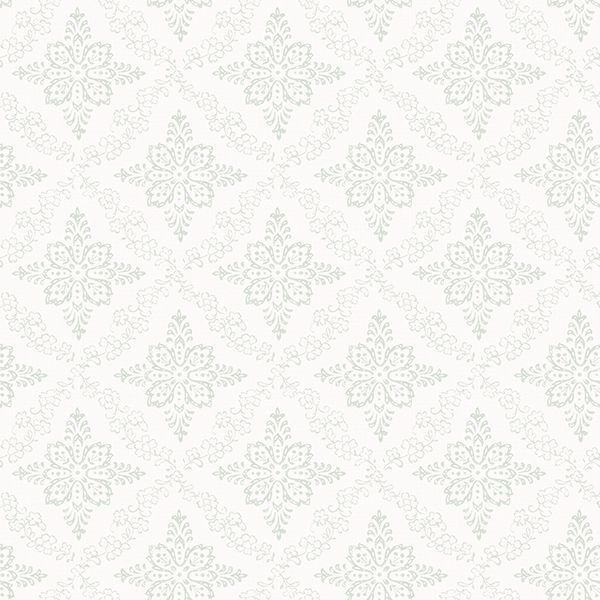 Picture of Wynonna Teal Geometric Floral Wallpaper