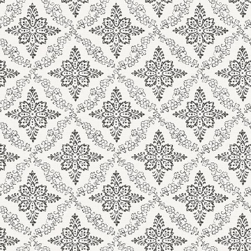 Picture of Wynonna Black Geometric Floral Wallpaper