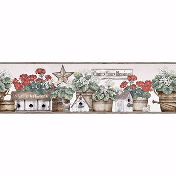 Picture of Geranium Multicolor Flower Pot Border
