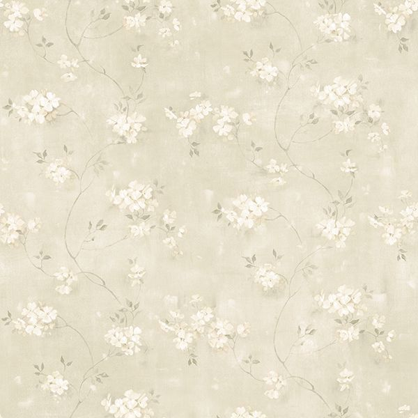 Picture of Braham Taupe Floral Trail Wallpaper