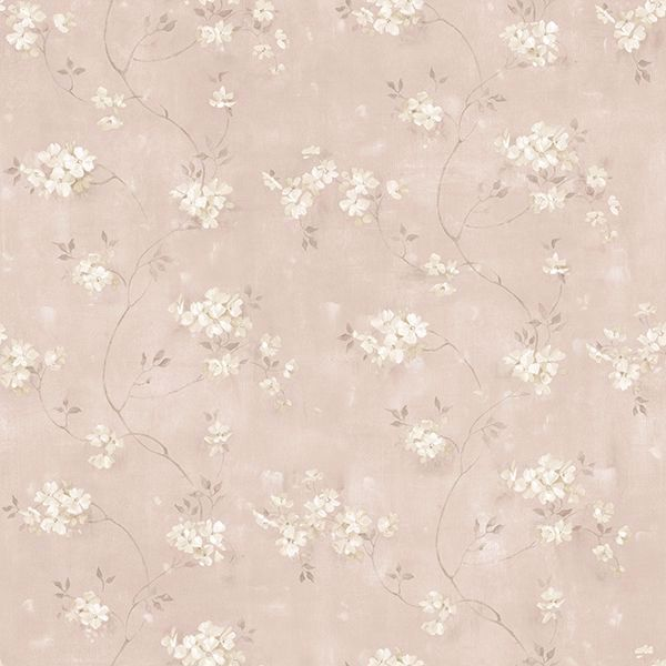 Picture of Braham Pink Floral Trail Wallpaper