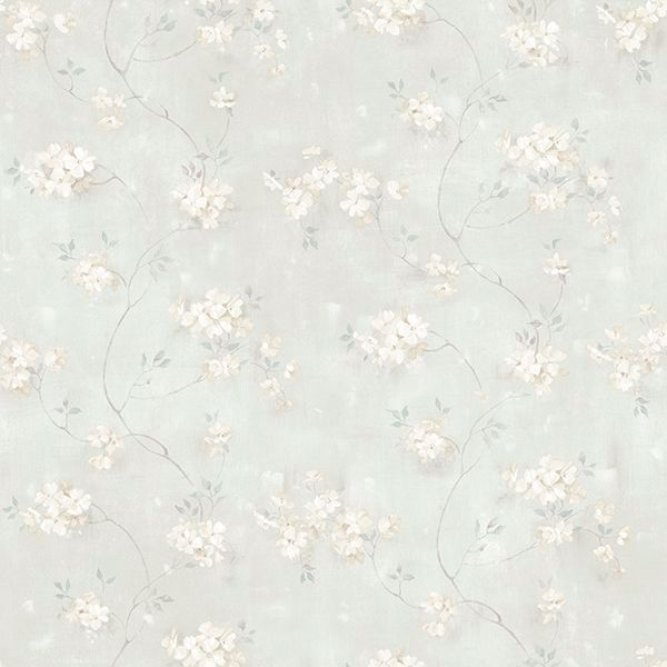 Picture of Braham Teal Floral Trail Wallpaper