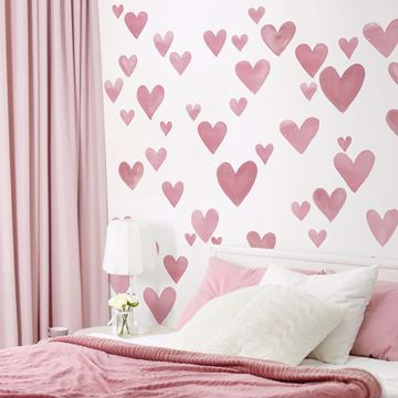 Love Decals Heart Shaped Stickers Wall D 233 Cor