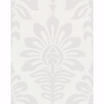 Picture of Light Grey Geometric Floral Wallpaper