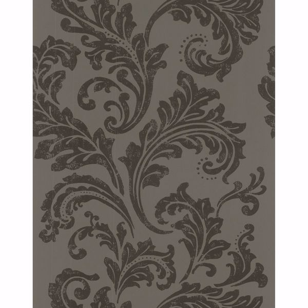 Picture of Charcoal Scroll Wallpaper