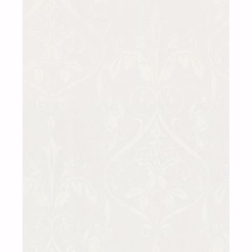 Picture of Light Grey Floral Wallpaper