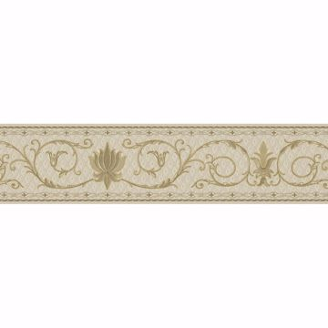 Picture of Brown Floral Trail Border