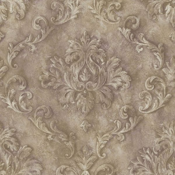 Picture of Mauve Textured Scroll Wallpaper