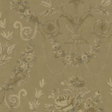 Picture of Gold Rose Urn Wallpaper