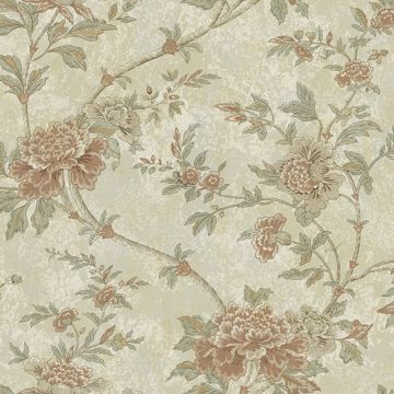 Picture of Brown Floral Trail Wallpaper