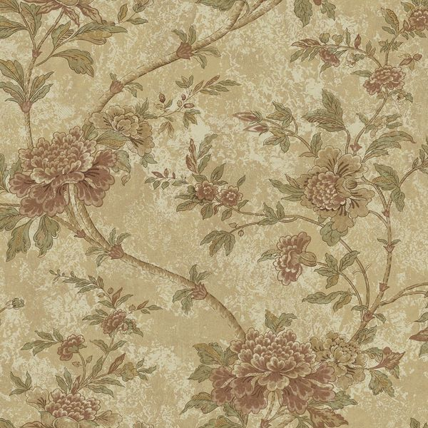 Picture of Yellow Floral Trail Wallpaper