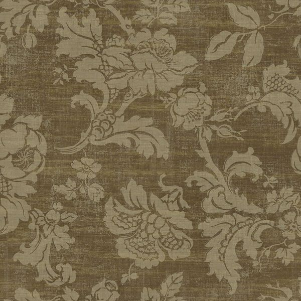 Picture of Brown Tonal Jacobean Wallpaper