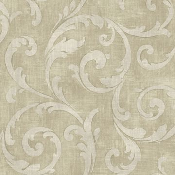 Picture of Neutral Large Scroll Wallpaper